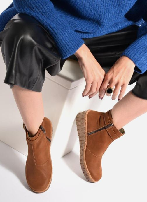 Ankle boots El Naturalista Myth Yggdrasil N5133 Brown view from underneath / model view