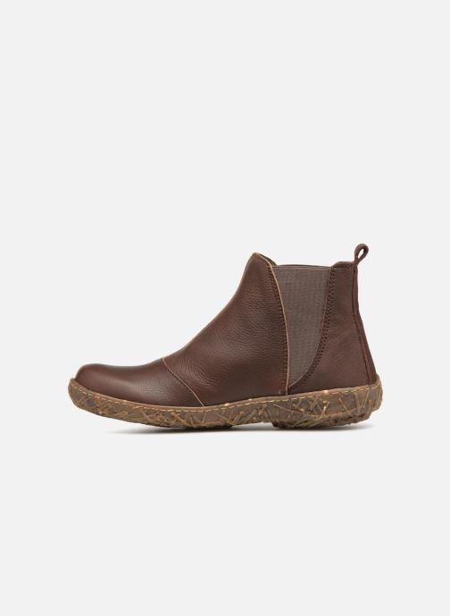 Ankle boots El Naturalista Nido Ella N786 Brown front view