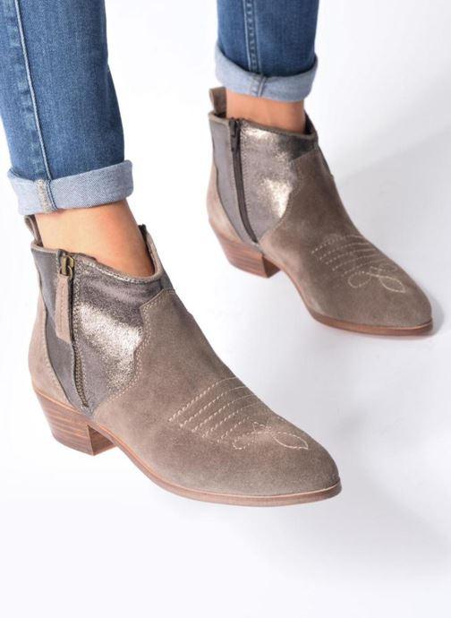 Bottines et boots Kaporal Nayade Gris vue bas / vue portée sac