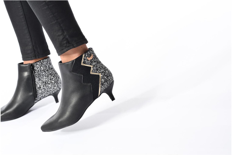 Bottines et boots Kaporal Sampa Noir vue bas / vue portée sac