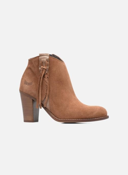 Ankle boots Kaporal Texane Brown back view