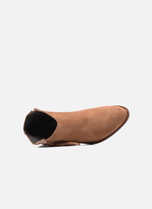 Ankle boots Kaporal Texane Brown view from the left