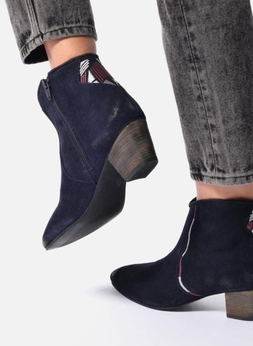 Bottines et boots Kaporal Vuber Bleu vue bas / vue portée sac