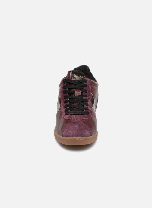 Baskets Kaporal Katala Bordeaux vue portées chaussures