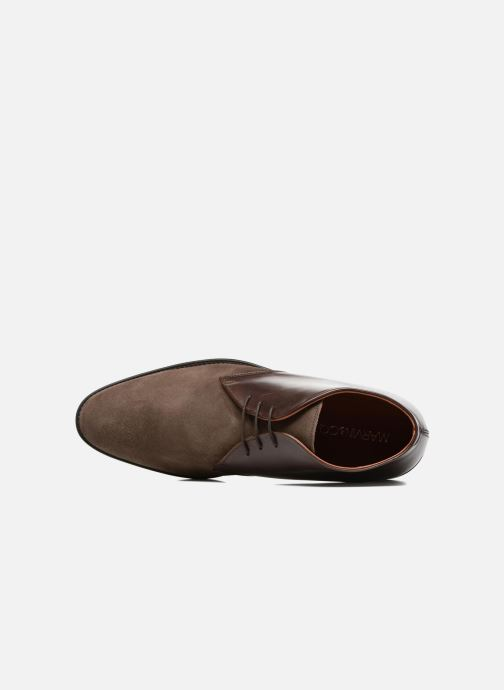 Zapatos con cordones Marvin&Co Tellington Marrón vista lateral izquierda