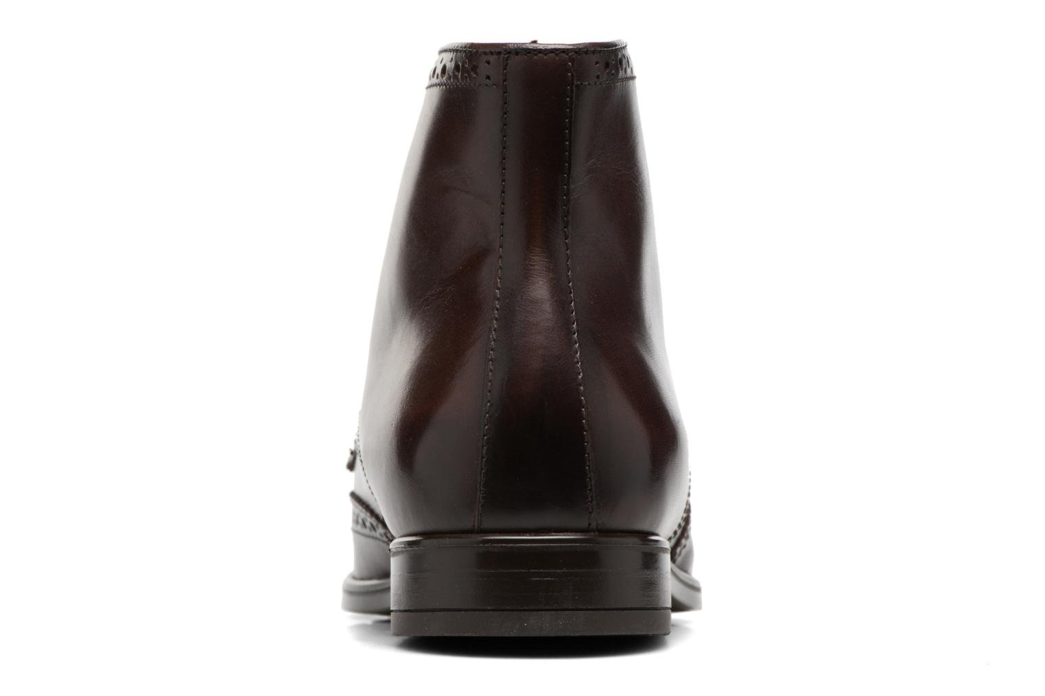 Ankle boots Marvin&co Thomley Brown view from the right