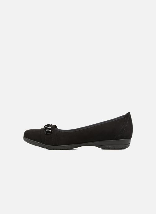 Ballet pumps Jana shoes Linda Black front view