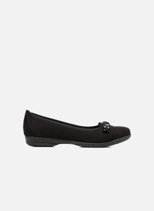 Ballet pumps Jana shoes Linda Black back view