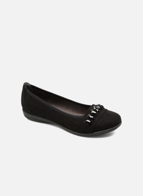 Ballet pumps Jana shoes Linda Black detailed view/ Pair view