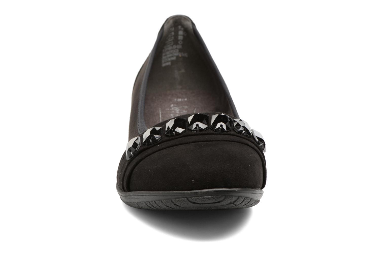 Ballerines Jana shoes Linda Noir vue portées chaussures