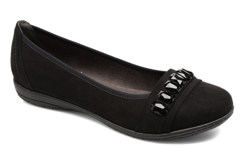 Ballerines Jana shoes Linda Noir vue détail/paire