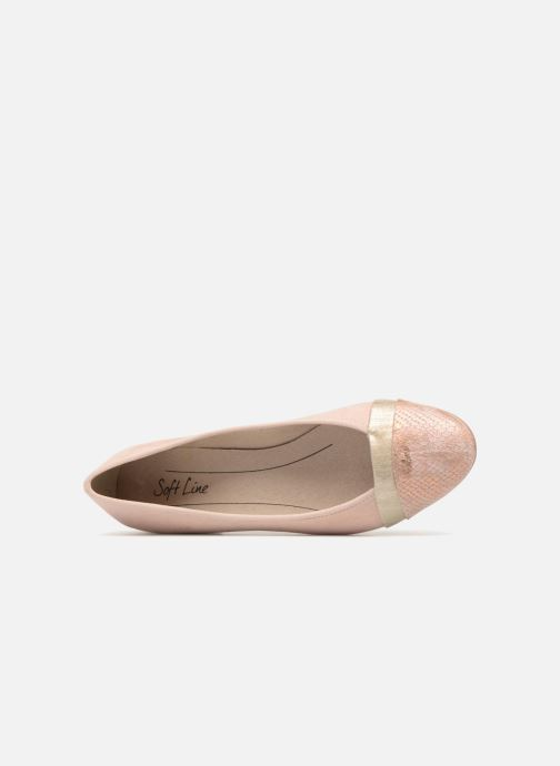 Ballerines Jana shoes Luija Rose vue gauche