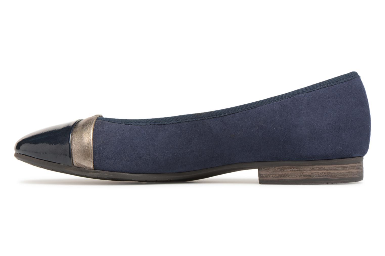 Ballerines Jana shoes Luija Bleu vue face