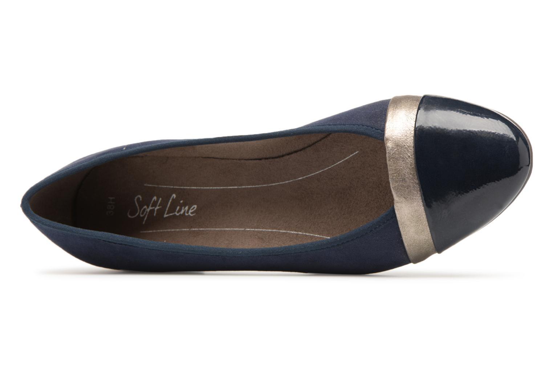 Ballerines Jana shoes Luija Bleu vue gauche