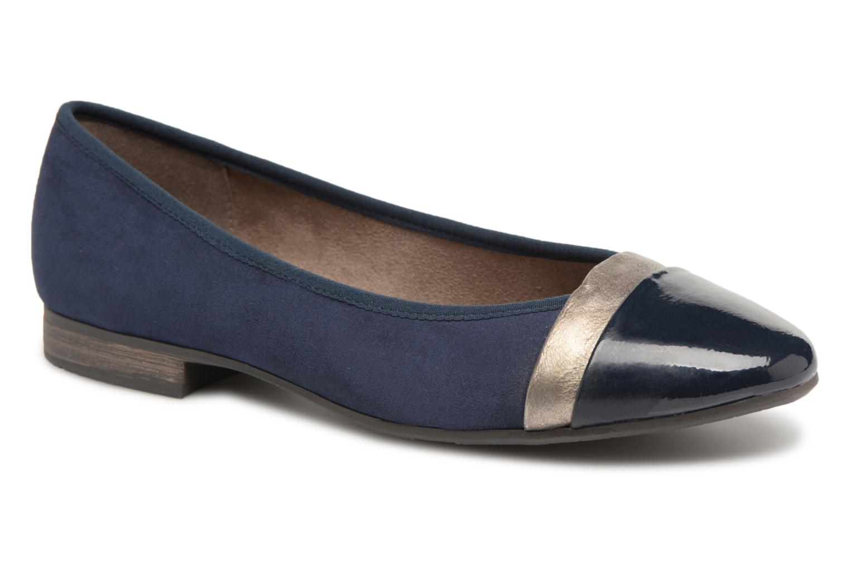 Ballerines Jana shoes Luija Bleu vue détail/paire