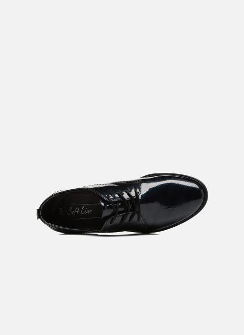 Chaussures à lacets Jana shoes Duna Bleu vue gauche
