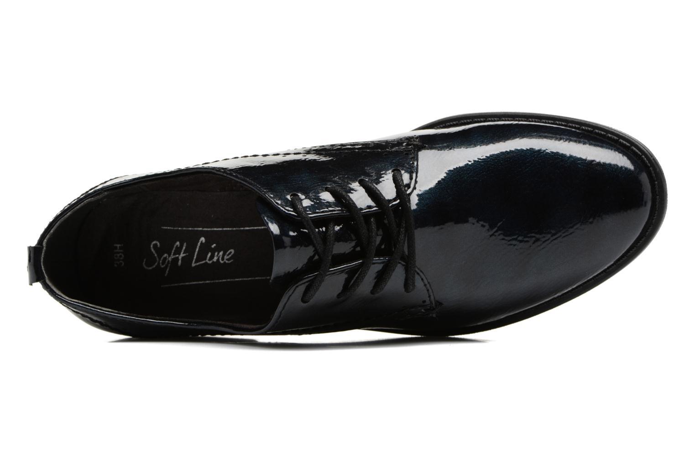 Scarpe con lacci Jana shoes Duna Azzurro immagine sinistra