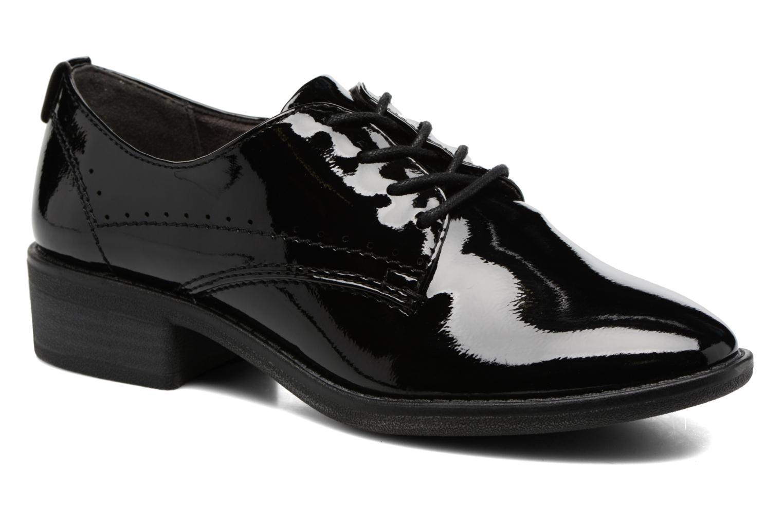 Zapatos con cordones Jana shoes Duna Negro vista de detalle / par