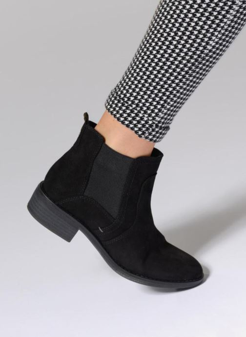 Ankle boots Jana shoes Myat Black view from underneath / model view