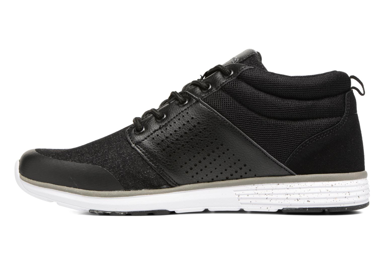 Sneakers Kappa Nassau Mid Zwart voorkant