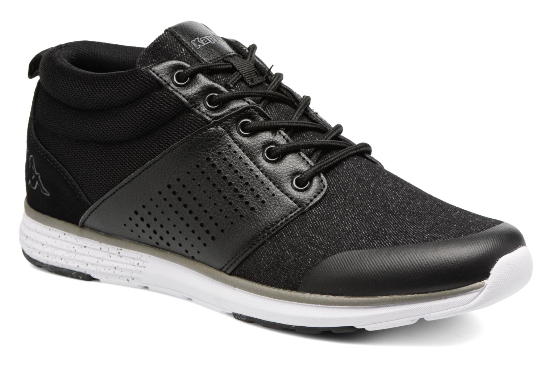 Sneakers Kappa Nassau Mid Zwart detail