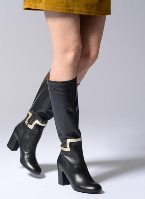 Boots & wellies Made by SARENZA Boots Camp #2 Black view from underneath / model view