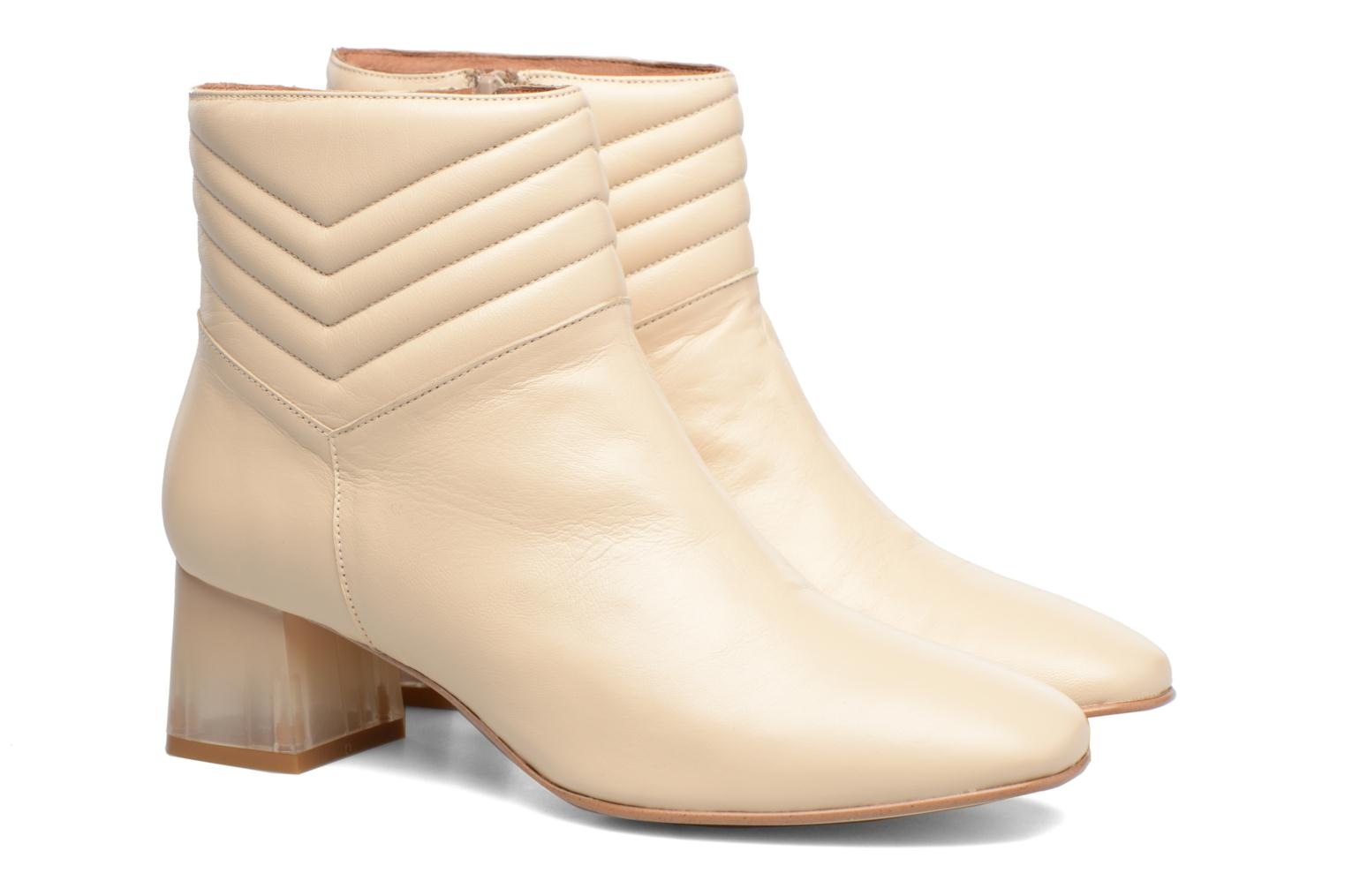 Ankle boots Made by SARENZA Winter Ski #4 White back view