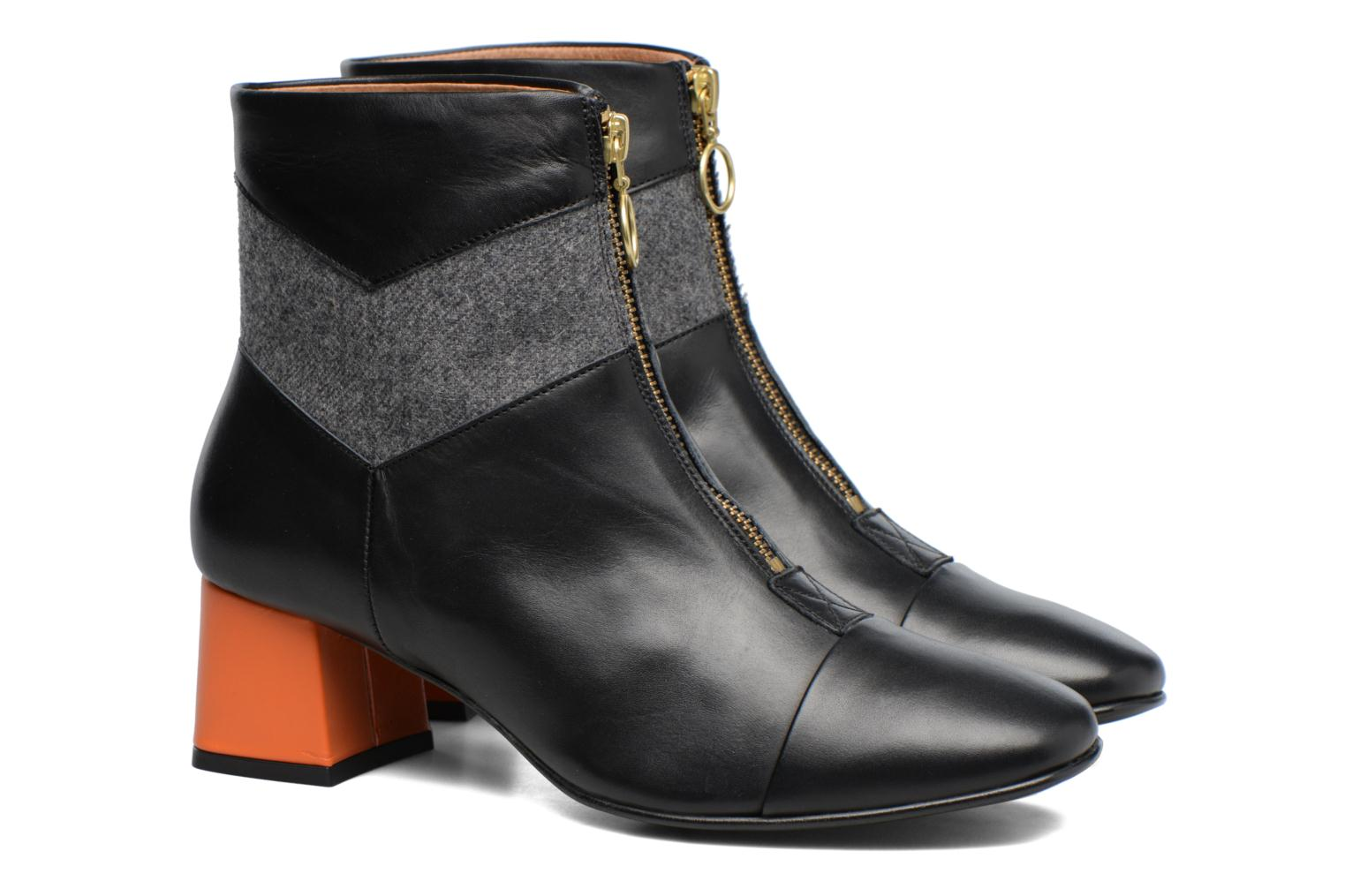Ankle boots Made by SARENZA Winter Ski #5 Black back view