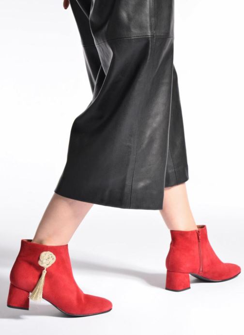Ankle boots Made by SARENZA Boots Camp #3 Red view from underneath / model view