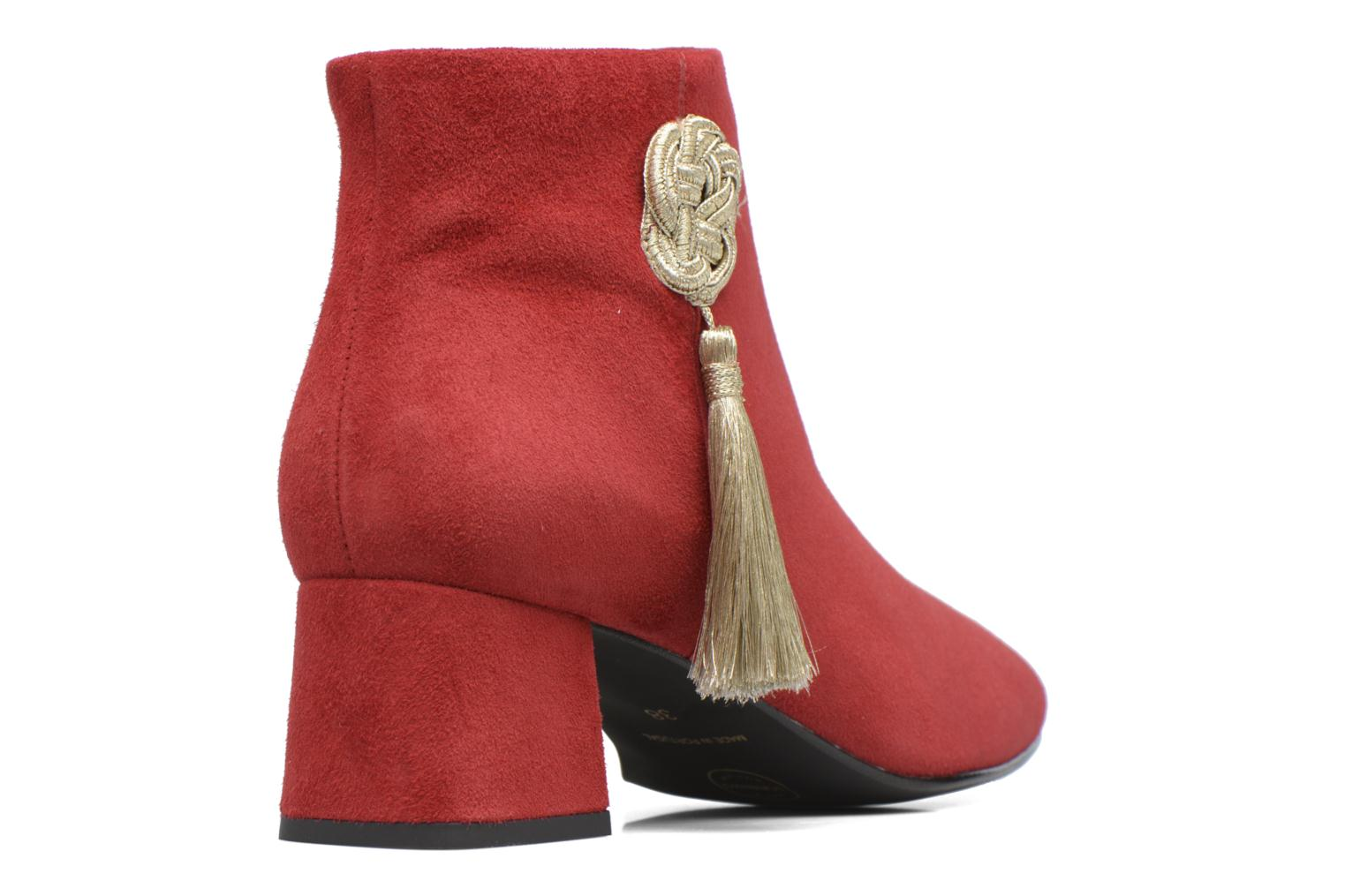 Ankle boots Made by SARENZA Boots Camp #3 Red front view