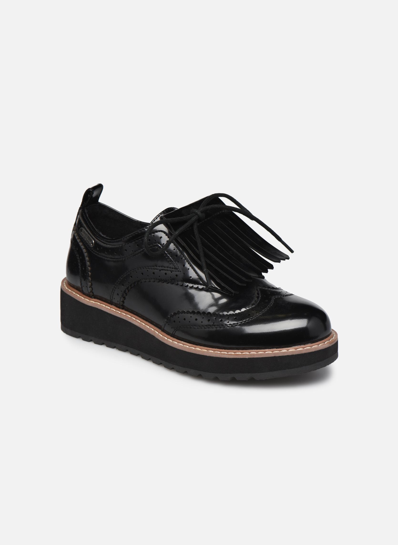 Zapatos con cordones Pepe jeans RAMSY tassel Negro vista de detalle / par