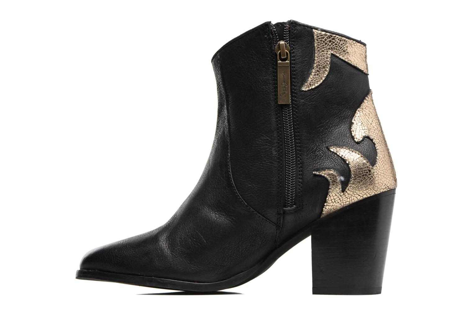 Ankle boots Pepe jeans DOLLY BURN Black front view