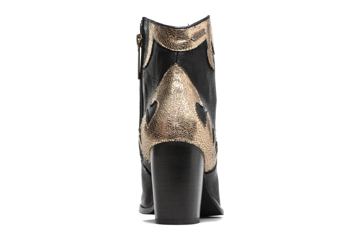 Ankle boots Pepe jeans DOLLY BURN Black view from the right