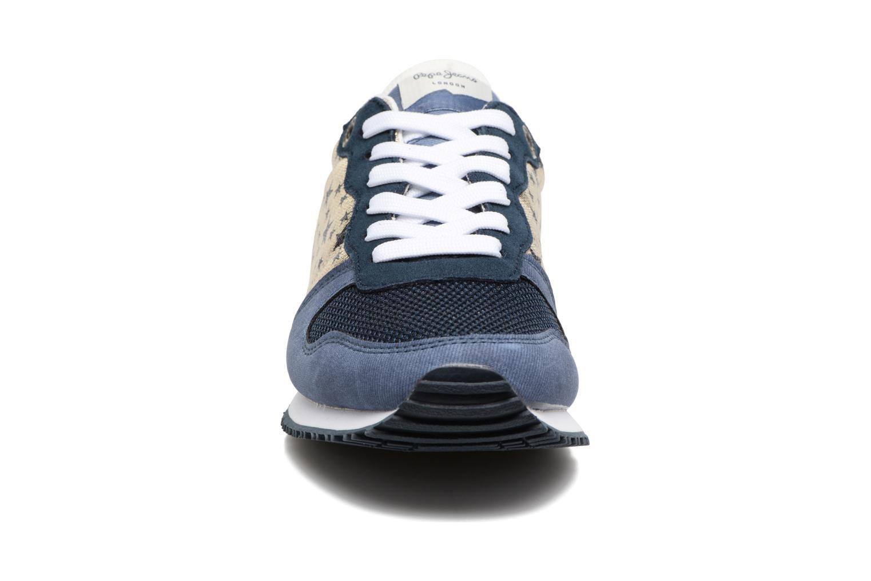 Baskets Pepe jeans Gable Galactic Bleu vue portées chaussures