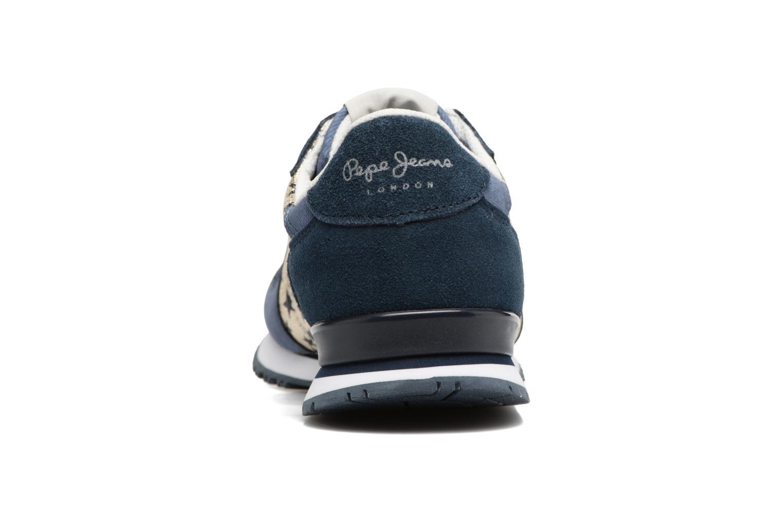 Baskets Pepe jeans Gable Galactic Bleu vue droite