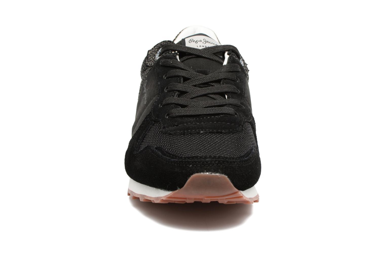 Baskets Pepe jeans Verona W Flash Noir vue portées chaussures