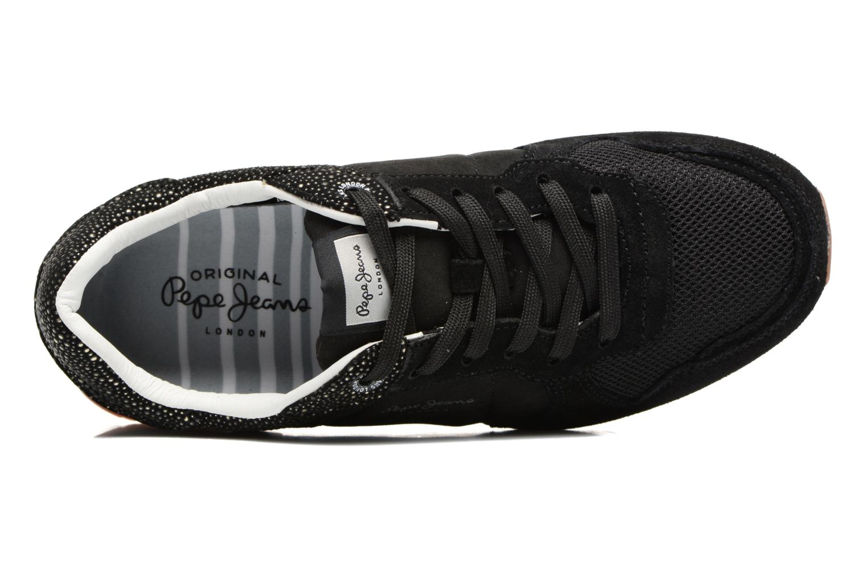Baskets Pepe jeans Verona W Flash Noir vue gauche