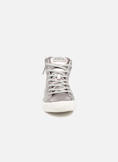 Sneakers Pepe jeans CLINTON SUE Argento modello indossato