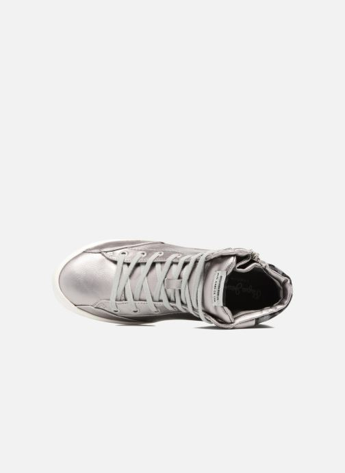 Sneakers Pepe jeans CLINTON SUE Argento immagine sinistra
