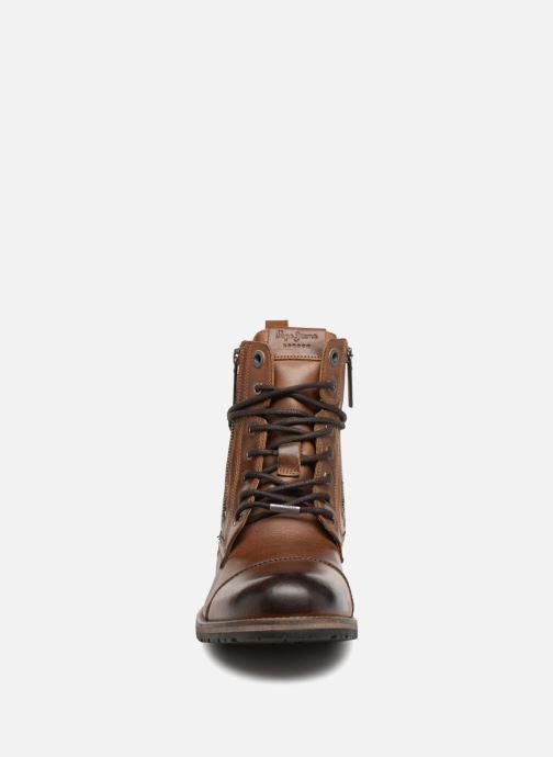 Bottines et boots Pepe jeans MELTING ZIPPER NEW Marron vue portées chaussures