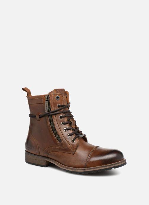 Ankelstøvler Pepe jeans MELTING ZIPPER NEW Brun detaljeret billede af skoene