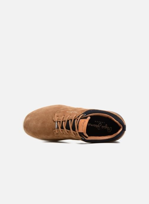 Sneakers Pepe jeans JAYDEN SUEDE Marrone immagine sinistra