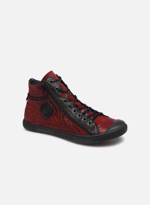 Baskets Pataugas Bono/Z Rouge vue détail/paire