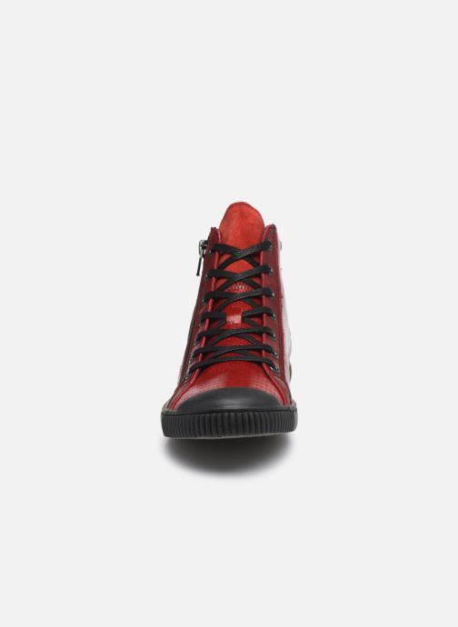 Baskets Pataugas Bey Rouge vue portées chaussures
