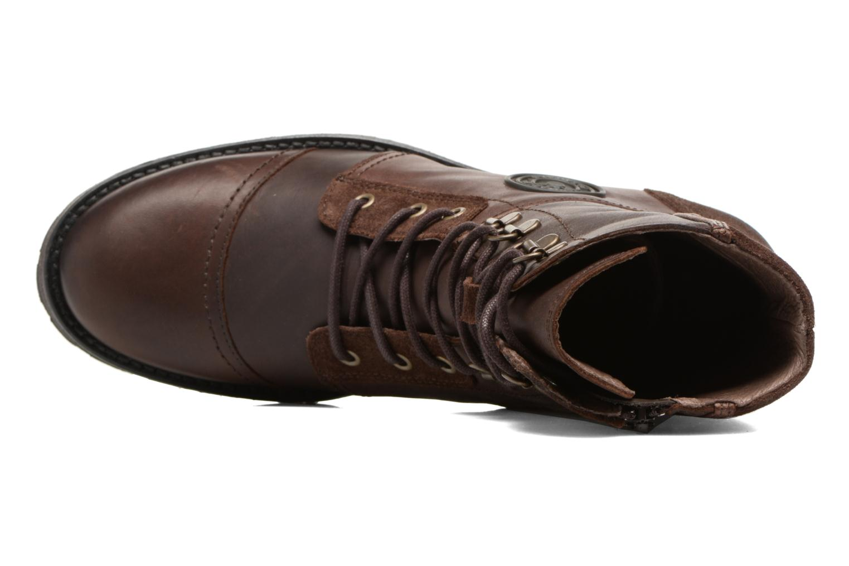Bottines et boots Pataugas Duke Marron vue gauche