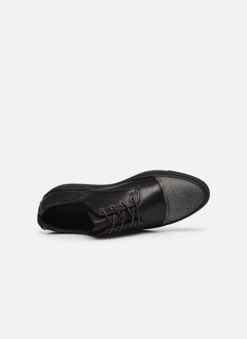Zapatos con cordones Pataugas Yak Negro vista lateral izquierda