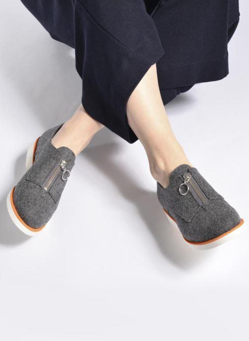 Mocassins Made by SARENZA Pastel Affair Chaussures à Lacets #1 Gris vue bas / vue portée sac