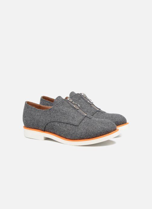 Mocassins Made by SARENZA Pastel Affair Chaussures à Lacets #1 Gris vue derrière