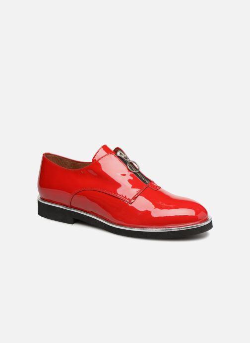Mocassins Made by SARENZA Pastel Affair Chaussures à Lacets #1 Rouge vue droite
