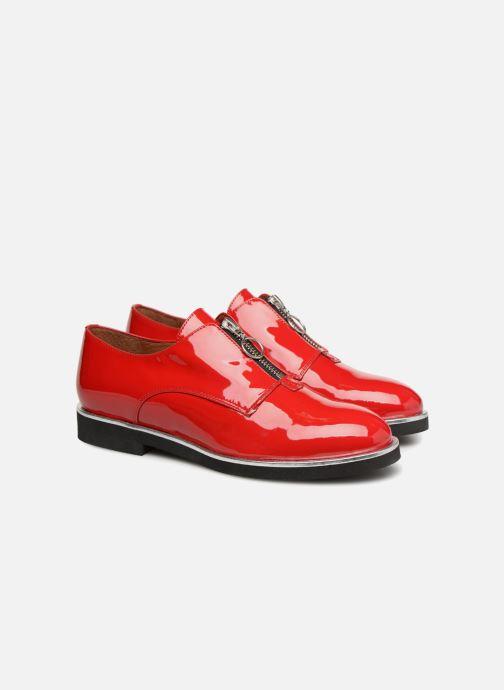 Mocassins Made by SARENZA Pastel Affair Chaussures à Lacets #1 Rouge vue derrière
